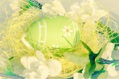 зеленый цвет пасхального яйца Стоковая Фотография