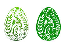 зеленый цвет пасхального яйца Стоковые Фотографии RF
