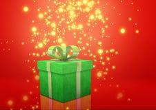 Зеленый цвет подарочной коробки Стоковая Фотография RF
