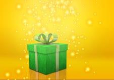 Зеленый цвет подарочной коробки Стоковые Фотографии RF