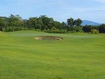 зеленый цвет поля для гольфа Стоковое Изображение RF
