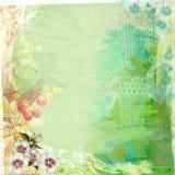 Зеленый цвет предпосылки бумаги Grunge Teatime Boho Стоковая Фотография RF