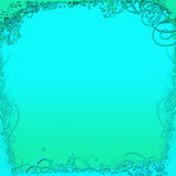 зеленый цвет предпосылки голубой Стоковые Фотографии RF