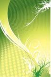 зеленый цвет предпосылки флористический Стоковые Изображения RF