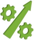 зеленый цвет предпосылки яблок алфавита изолировал белизну символа процента Стоковая Фотография