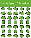 Зеленый цвет пузыря заранее подготовленной речи значка Стоковая Фотография RF