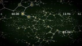 Зеленый цвет сетей передачи данных иллюстрация штока