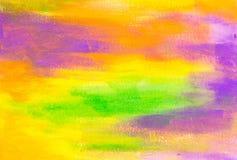 Зеленый цвет, синь и апельсин покрасили предпосылку текстуры Стоковые Фото