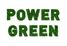 Зеленый цвет силы окружающей среды зеленого цвета серии значков ECO Стоковые Фотографии RF