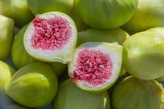 зеленый цвет смокв свежий Стоковые Фотографии RF