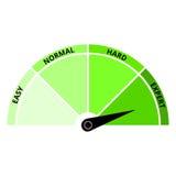 Зеленый цвет спидометра иллюстрация вектора