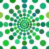 Зеленый цвет ставит точки безшовная картина Стоковое Фото