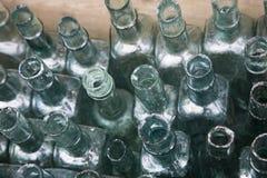 зеленый цвет стекла бутылок Стоковые Изображения RF