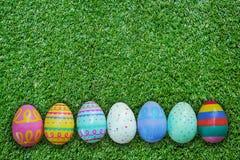 зеленый цвет травы пасхального яйца предпосылки Стоковые Фотографии RF
