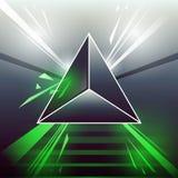 Зеленый цвет треугольника лазера научной фантастики Стоковое Изображение