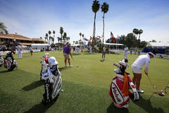 Зеленый цвет установки на воодушевленности АНАА играет в гольф турнир 2015 Стоковые Изображения