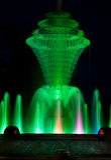 Зеленый цвет фонтана парка Bayliss Стоковая Фотография