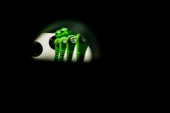 Зеленый цвет футбола таблицы Стоковые Изображения
