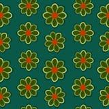 Зеленый цвет цветет предпосылка Стоковая Фотография RF