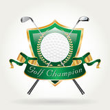 Зеленый цвет чемпиона игрока в гольф Стоковое фото RF