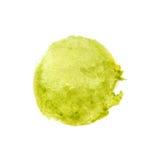 Зеленый цвет Watercolour с покрашенной желтым цветом предпосылкой круга Стоковая Фотография RF