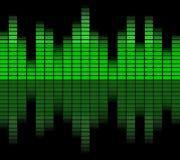 Зеленый цифровой выравниватель Стоковые Изображения RF
