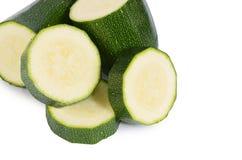 Зеленый цукини изолированный на белой предпосылке Стоковые Изображения