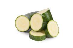 Зеленый цукини изолированный на белой предпосылке Стоковое фото RF