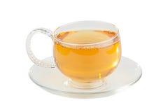 Зеленый чай в красивой чашке стоковое изображение rf
