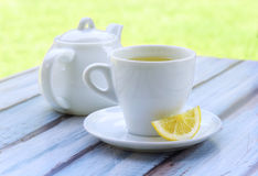 зеленый чай лимона Стоковые Изображения RF