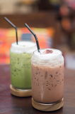 Зеленый чай и замороженный шоколад Стоковое Изображение