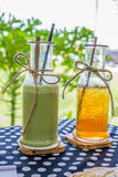 Зеленый чай и чай льда Стоковая Фотография RF