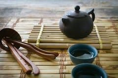 зеленый чай утра установите чай Стоковое Изображение RF