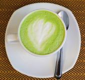 Зеленый чай - чай matcha зеленый Стоковое Изображение RF