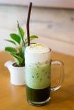 зеленый чай льда Стоковая Фотография