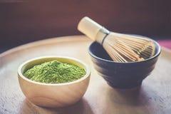 зеленый чай matcha Стоковое Изображение