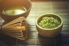 зеленый чай matcha Стоковые Фото