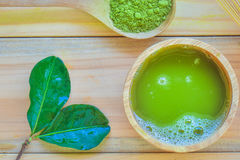 зеленый чай matcha Стоковые Изображения
