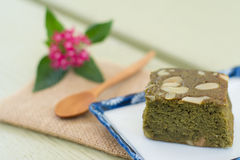 Зеленый чай (Matcha) Blondies Стоковое Изображение