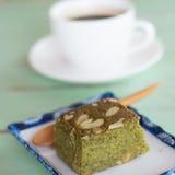 Зеленый чай (Matcha) Blondies Стоковые Фото