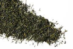 Зеленый чай sencha изолированный на белой предпосылке Стоковые Фото