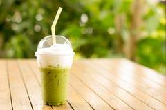зеленый чай smoothie стоковое изображение
