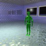 Зеленый чужеземец Стоковая Фотография
