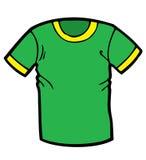 Зеленый шарж футболки Стоковое фото RF