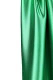 Зеленый шелк задрапировывает Стоковая Фотография RF