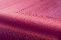 Зеленый шелк на снуя тени текстильной фабрики Стоковое фото RF