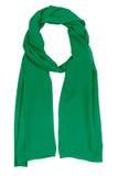 зеленый шелк шарфа Стоковая Фотография