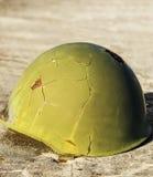 Зеленый шлем войны Стоковое Фото
