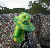 зеленый шлем Стоковое Изображение