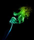 Зеленый дым на темноте Стоковые Изображения RF